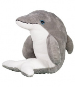 """Bubbles"" the Dolphin, Make Stuff Build your own 20cm (8"") Plush Teddy Kit - no sewing"