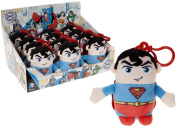 11CM SUPERMAN PLUSH TOY WITH CLIP CUDDLE OFFICIAL GIFT KEY CHAIN BACKPACK NEW