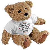 Who Needs A Valentine When You Can Have Wine Teddy Bear, Love Gift Anniversary