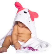 Baby Hooded Bath Towel - Cute Puppy Dog Animal Design - 100% Cotton Material