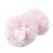 Fletion 2 PCS Ultra Soft Plush Baby Fluffy Powder Puff Comfortable Toddler Body Dusting Powder Puffs Talcum Powders Puff with Cute Bowknot - 8.9cm Diameter