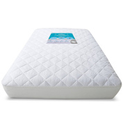 Deulia Waterproof Crib Mattress Protector Hypoallergenic Quilted Crib Fitted Sheets with Deep 23cm skirts - Breathable Mattress Pad Outstanding Cradle Mattress Protector - 70cm x 130cm x 23cm