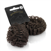 Bling Online 2pc Pack of Immitation Hair Look Elasticated Styling Donut.