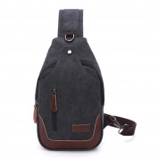 Outreo Vintage Shoulder Bag for Men Chest Bag Cross body Side Pack Small Crossbody Messenger Bag Tablet Bike Sport Satchel Canvas