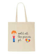 Until All The Pieces Fit Autism Awareness Character B3 Boy With Natural Hair Tote Bag
