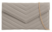 Girly HandBags Quilted Metallic Clutch Bag