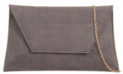 Girly HandBags Plain Suede Clutch Bag