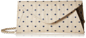 La Regale Dot Linen Roll Clutch