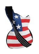Stars and Stripes Guitar Shaped American Flag Cross Body Bag