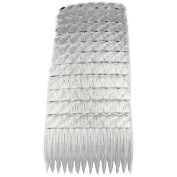 Hair Combs Plastic Hair Slides 12 Pack Of Budget Black Brown Or Clear 7Cm Combs Clear
