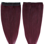 Clip in Human Hair Extensions 41cm - 60cm 100% Remy Grade 7A 3/4 Full Head One Piece 5 Clips Long Soft Silky Straight for Women Beauty