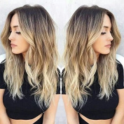 Ombre one piece clip in hair extensions 5 clips