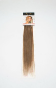 1st Lady Silky Straight Natural European 3 pcs Clip on Human Hair Extension with Premium Blend, Number 10, Medium Ash Brown, 46cm 28g
