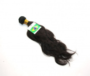 41cm (Loose Curl) Body Wavy 100% Brazilian Human Hair Extension Weave Weft 100g - Colour# Natural