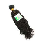 41cm (NC2) Curly 100% Brazilian Human Hair Extension Weave Weft 100g - Colour# Natural