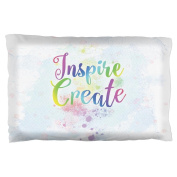 Inspire and Create Pastel Half Tone Art Pillow Case Multi Standard One Size