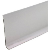 M D BUILDING PRODUCTS - 10cm x 1.2m Silver Grey Vinyl Wall Base