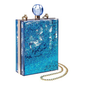 Blue Banana Glitter Box Womens Clutch Bag