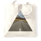 Geometric Triangle Shape Photograph High Quality Landscape Image Design Graphics Photo Picture Shopping Tote Bag Cool Funny Gift Present Bag