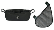 Stroller Parent Cup Holder Parent Tray with Side Sling Cargo Net