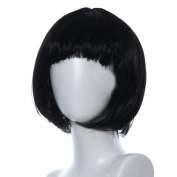 Fulltime(TM) Masquerade Small Roll Bang Short Straight Hair Wig Cosplay Party Halloween Christmas Short Straight Hair Wigs
