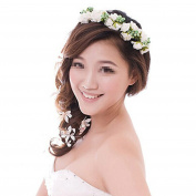 Stofirst Fashion Women Girls Flower Chain Crown Bridal Wedding Party Beach Wreath Garland Boho Floral Headband Hairhoop
