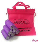 6 x Extra Large Fringe Rollers by Sleep in Rollers