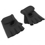 1Pair Sports Gloves Fitness Exercise Training Gym Gloves-Black M
