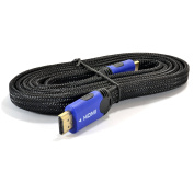 4K HDMI 1.4 Flat Braided HD Cable for PS4 or Xbox One