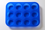 12 Cavity Round Cake Silicone Mould x 10