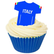 Pack of 12 Edible Wafer Decorations - Italy Football Shirts 201-420
