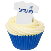 Pack of 12 Edible Wafer Decorations - England Football Shirts 201-419