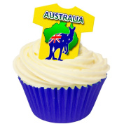 Pack of 12 Edible Wafer Decorations - Australian T Shirt 201-369