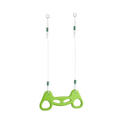 HappyPie Plastic Multi-use Kids Exercise Trapeze Gymnastic Swing Ring with Adjustable PP Rope