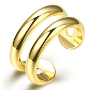 Gold Plated Ring, Women's Wedding Bands Fake Two Ring Open Ring Gold Epinki