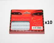 1st Lady - Premium Natural Individual Loose Eyelashes (10 Packs) #1250 - 8mm