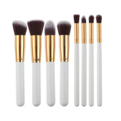 Fangxin 8 Pcs Make Up Brush Set Cosmetic Brushes Gold/Silver/Black/Gold/Black/Silver