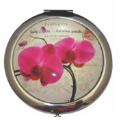 Boutique Pink Orchid Compact Mirror by Clere Concepts