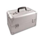 210470 - Small Silver Beauty Vanity Case Make up Cosmetic Box Bag Hairdressing Nail Art Salon Small Large
