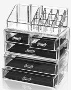 Solly's Storage Bag for Make Up and Jewellery/Acrylic Cosmetic Organiser/Jewellery Box/Storage Box with Drawers Make-up