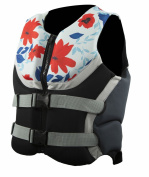 Body Glove Wetsuit Co Women's Bombshell U.S. Coast Guard Approved PFD Vest, Large, Grey