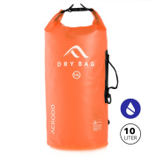 New Acrodo Waterproof Dry Bag Transparent 10 - 20 Litre Floating for Boating, Camping, and Kayaking With Shoulder Strap - Keeps Personal Belongings Protected