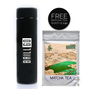 BRILLGO © Insulated Stainless Steel Vacuum Bottle, Flask for Travel, Office Coffee,Tea and HOT Drinks 500ML BLACK With