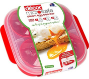 Decor ® Microwave Steam Egg Poacher Maker - For Perfectly Poached Eggs Cooked In Minutes