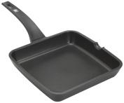 BRA EFFICIENT - Flat grill pan, 28 cm, cast aluminium with Teflon Platinum Plus non-stick