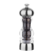 Tala Performance Acrylic & Stainless Steel Pepper Mill 18cm Filled, Clear