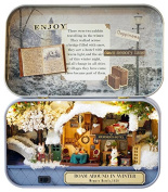 DIY Wooden Dollhouse Miniature Kit Snow Hut Model Toy & Colour Light With Furniture Show Pictures