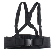 FAMI Adjustable MOLLE Soft Padded Tactical Waist Belt with Suspender for Outdoor Duty - 3 Colours for Optional
