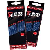 Elite Hockey Prolace Waxed Hockey Skate Laces -- SET of 2 Pairs