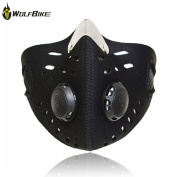 WOLFBIKE Super Anti-Pollution Motorcycle Bicycle Cycling Racing Mask Carbon Cloth Bike Ski Half Face Mask Filter City Style